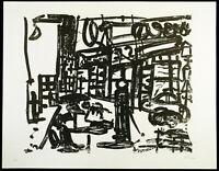 Kunst in der DDR. Lithographie Dieter GOLTZSCHE (*1934 D), handsigniert