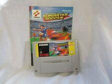 International Superstar Soccer Super Nintendo SNES Cartucho PAL en muy buena condición