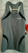 NWT TYR CARBON Women's / Female Sz Small Gray Black Tank - TEFT6A - USA