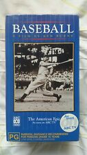 Baseball A Film by Ken Burns VHS AUS - Brand New and Sealed
