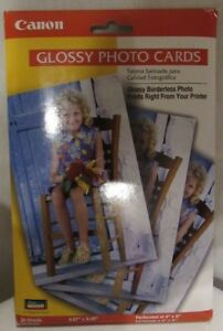 NEW SEALED CANON GLOSSY PHOTO CARDS 20 SHEETS 4x6 BORDERLESS PHOTOS FM-101