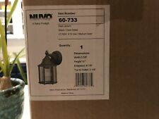 Nuvo Outdoor Wall Lantern Made By Satco - Black / Clear Glass