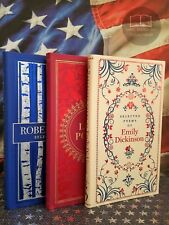 NEW Set of 3 Poem Books Emily Dickinson Robert Frost Love Poems Bonded Leather