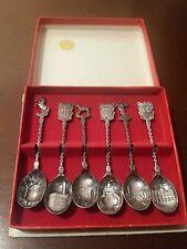 Vintage!! Nieuwpoort Holland Silverworks spoons set of 6 (Rare)