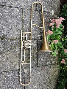 """Alte Ventilposaune in B? Posaune """"Josef Lidl Brno"""" valved trombone"""