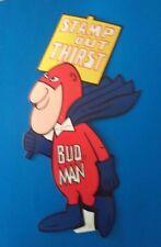 ~VINTAGE~ - BUDWEISER - BUD MAN (STAMP out THIRST) STICKER(1972) - NEW
