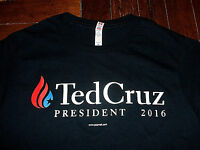 2016 Ted Cruz For President Election Republican Political T-Shirt Medium Black