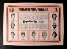 1976 MIke Schmidt~Steve Carlton Phillies Baseball Schedule Photo Placemat~Rare