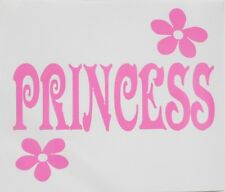 Princess Flowers **PINK ONLY** Car Window Vinyl Decal Sticker