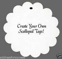 """24 Personalized """"Create Your Own"""" Scalloped Tags Party Favors"""
