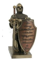Put on the Whole Armor of God bronze religious statue sculpture figure