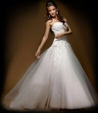Strapless Wedding Dress BRAND NEW by Brides Desire Size 12 Gown Lace Beading