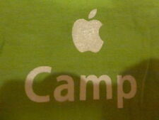 APPLE CAMP T-SHIRT Green MD tee logo trees AMERICAN APPAREL Youth Medium M Child