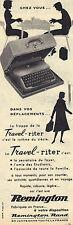 PUBLICITE ADVERTISING  1956    REMINGTON   machine à écrire