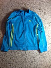Girls Adidas blue zippered athletic jacket Size Large 10/12. Ked