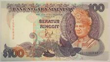 (PL) MALAYSIA 6TH SERIES RM 100 JAFFAR LAST PREFIX US BANKNOTE ZY 1596836 AU