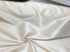 Crema Fuax doppione riga SETA 100% poliestere tessuto 10 metri.