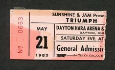 1983 Triumph Foghat concert ticket stub Dayton Ohio Never Surrender Stone Blue