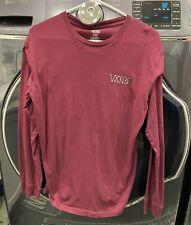 VANS Bones Maroon Long Sleeve Tee T-Shirt Boys XL - VGUC