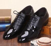 Men's Casual  Dress formal Business Lace-up Chunky heels Shoes