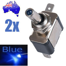 2x Blue LED Toggle Switch Car Boat Truck ATV Auto DC Neon 12V 20A ON/OFF SPST