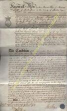 1820 BUCKINGHAM Mortgage Bond £1500- , £5 per Cent, Thomas Box to George Parrott