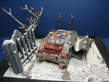 Diorama Emperors Knights Rhino la Space Marines transformación top pintado