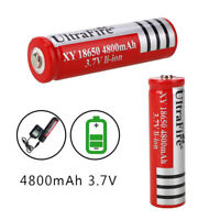 4Pcs 18650 Li-ion Lithium Battery 4800mAh Rechargeable For LED Flashlight Torch
