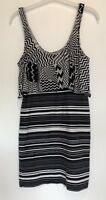 UK 10 NEW LOOK BLACK/WHITE DRESS TOWIE/SUMMER/PARTY/FESTIVAL/HOLIDAY/CELEB/BOHO