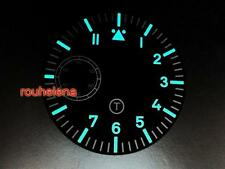 HR SUPER LUME B-Uhr Pilot Flieger Watch T Dial for ETA Unitas 6497 6498 Movement