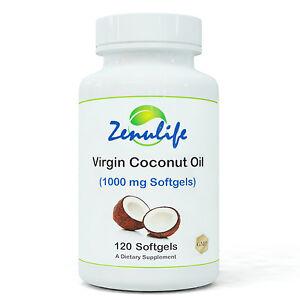 Organic Virgin Coconut Oil 1000mg x 120 Softgels, Tablets, Capsules, Supplements