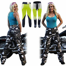 New Motorcycle Unisex Camo Cargo Pants with DuPont™ KEVLAR® ARAMID FIBRE 34/14