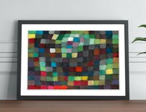 Coloured Squares Abstract Paul Klee POSTER FRAMED WALL ART PICTURE PRINT 4 SIZES