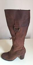 ALDO Dark Tan Leather Knee High Boots Size 36