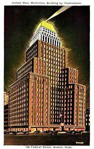 Vintage Postcard - United Shoe Machinery Building Boston Massachusetts #8225
