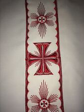 Beautiful Embroidered Chasuble/Vestment/Clergy Robe Red Cross Details