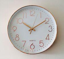 Reloj de pared brillante Dorado Rosa Reloj De Cocina 30cm Color De Cobre Estilo Contemporáneo