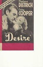 DESIRE(1936)MARLENE DIETRICH GARY COOPER ORIG PRESSBOOK HERALD