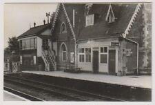 Warwickshire postcard - Long Marston Station (Honeybourne - Micote line) - RP