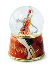 Schneekugel XL mit Spieluhr Geige Violine,15cm,Souvenir Musik Konzert
