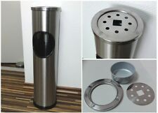 Standing Stainless Steel Outdoor Dust Rubbish Bin Cigarette Ashtray Stand
