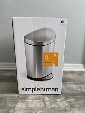 Simplehuman Semi-Round Step CanStainless Steel Fingerprint-Proof NEW