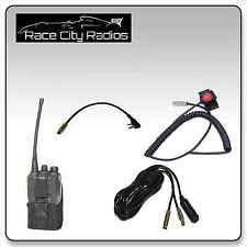 IMSA Wiring Kit for BAOFENG Velcro Mount PTT Switch Pouch Radios Racing
