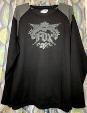 Fox Racing Long Sleeve Jersey Shirt Carpe Diem Black Dark Gray Xl Waffle Fabric