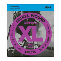 10 Sets D'Addario EXL120 Nickel Wound Electric Guitar Strings 9-42 9s