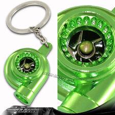Brilliant Metallic Green Spinning Turbo Turbine Key Chain Key Ring For CHEVROLET
