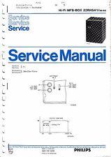 Service Manual-Anleitung für Philips MFB-Box 22 RH 541