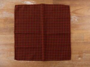 LARDINI dark orange wool pocket square authentic
