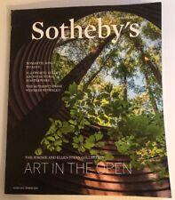 Sotheby`s  PREFERRED J & Ellen Stern collection ART IN THE OPEN  ,Feb.- Mar 2018