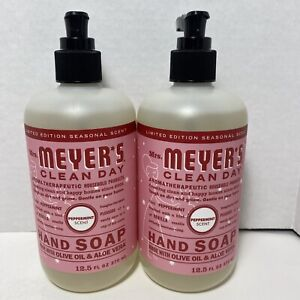 """Mrs Meyer's """"PEPPERMINT""""Hand Soap 2-12.5 Fl Oz. Limited Edition"""